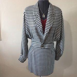 Dresses & Skirts - Black & White Checker ~ Skirt & Blazer Set
